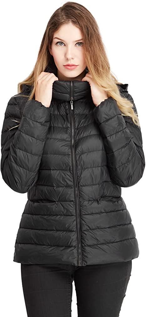 Amazon.com: Packable Down Jacket Heat Keep Jacket Womens Down .