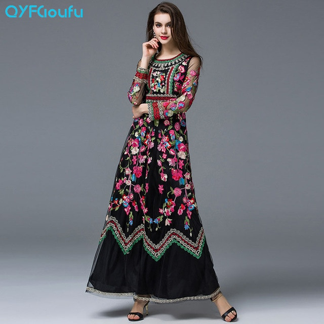 Women's Maxi Dresses with Sleeves – Fashion dress