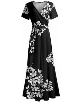 New Deal on Lily Women's Maxi Dresses BLK - Black & White Floral .