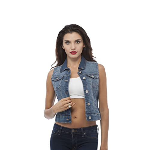 Denim Vest Women: Amazon.c
