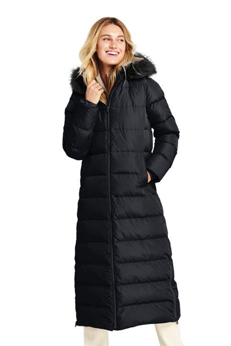 Women's Long Down Coat With Hood, Winter Coats for Women, Warm .