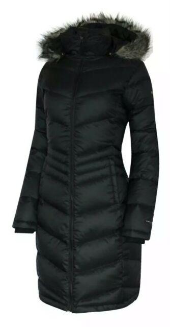 Columbia Women Polar Freeze Long Down Jacket Omni Heat Winter Coat .