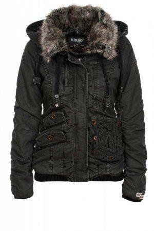 Khujo Women's Winter Jacket Felice W/O Charcoal 281 | Winter .