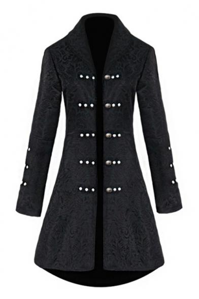 Women Vintage Medieval Jacket Coat Retro Steampunk Gothic Jacquard .