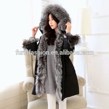 2017/2018 Wholesale Luxurious Women Winter Jacket With Real Big .