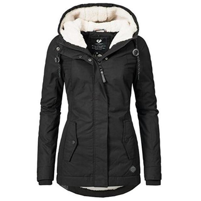 Women Winter Jacket Coat Cotton Windproof Slim Outerwear Fashion .