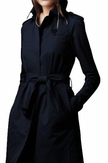 WOMEN LONG WOOL BLACK WINTER COAT | New American .