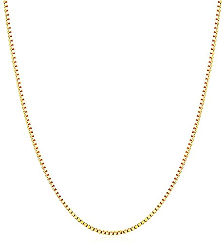 Q&S Jewels Womens Gold Necklaces 1.5mm Box Chain Necklace .