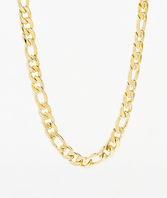 King Ice Women's Figaro Gold Chain Necklace | Zumi