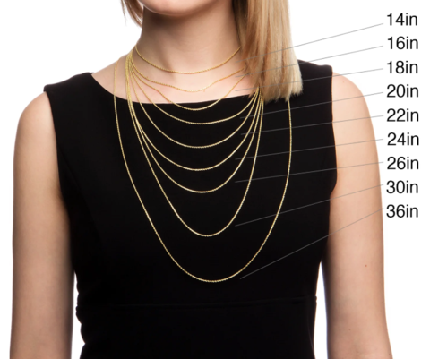 Women's Necklace Lengths - How To Find The Perfect Fit! - Handmade .