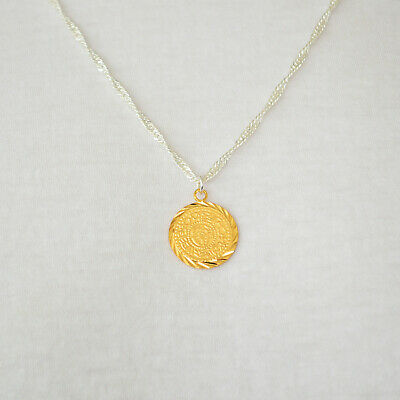 Middle East Necklace Pendant Gold Coin Silver Chain Men & Women's .