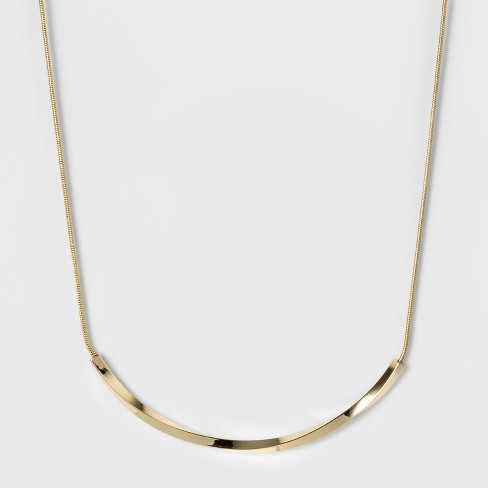 Women's Fashion Chain Necklace - A New Day™ Bright Gold : Targ