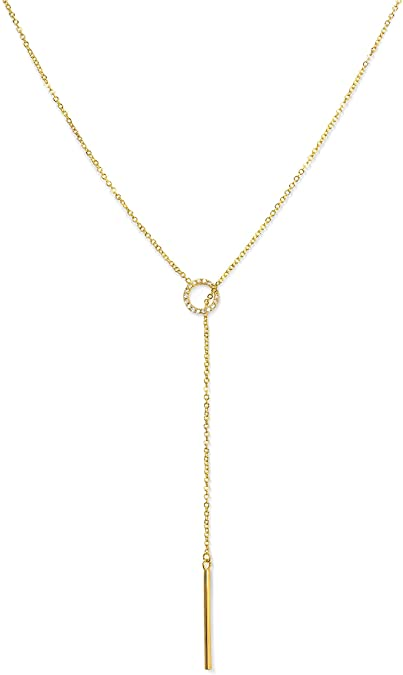 Amazon.com: Y Necklaces for Women | Gold Necklace, Lariat .
