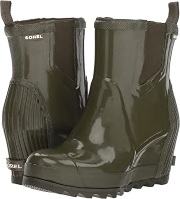 Amazon.com | Sorel Women's Joan Rain Wedge Chelsea GlossBoot Nori .