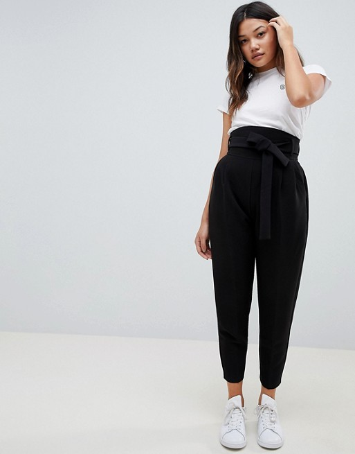Women's Clothing Black ASOS DESIGN high waist balloon tapered .