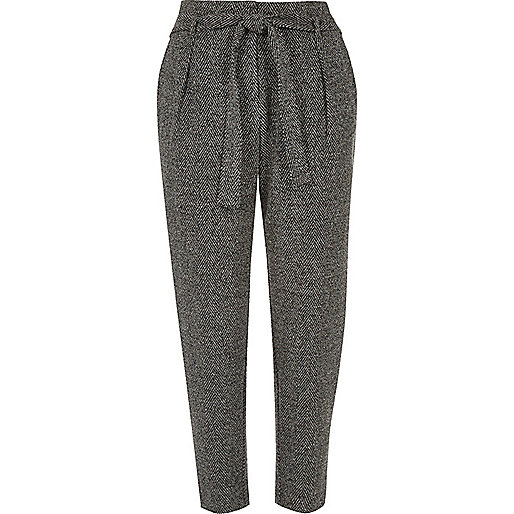 River Island Understated Women's River Island Grey Tie Tapered .