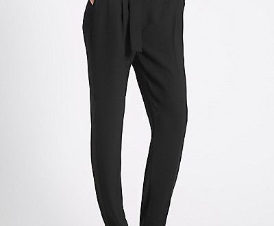 Ladies Trousers & Leggings | Womens Tapered Trousers | M&S .