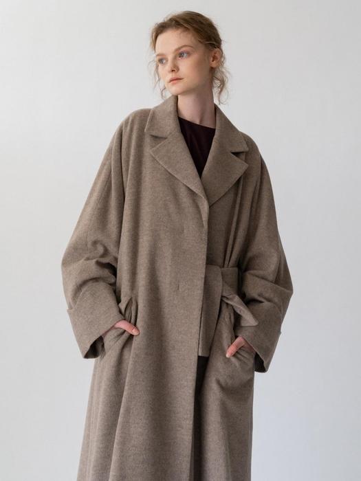 Oversized Wool Coat Beige | W Conce