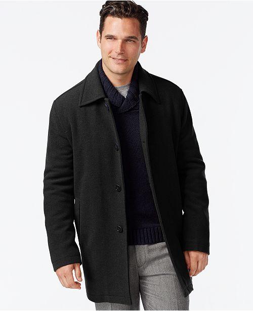 Cole Haan Wool-Blend Coat & Reviews - Coats & Jackets - Men - Macy