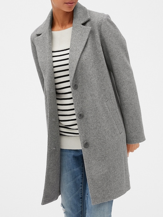 Wool-Blend Coat | Gap Facto