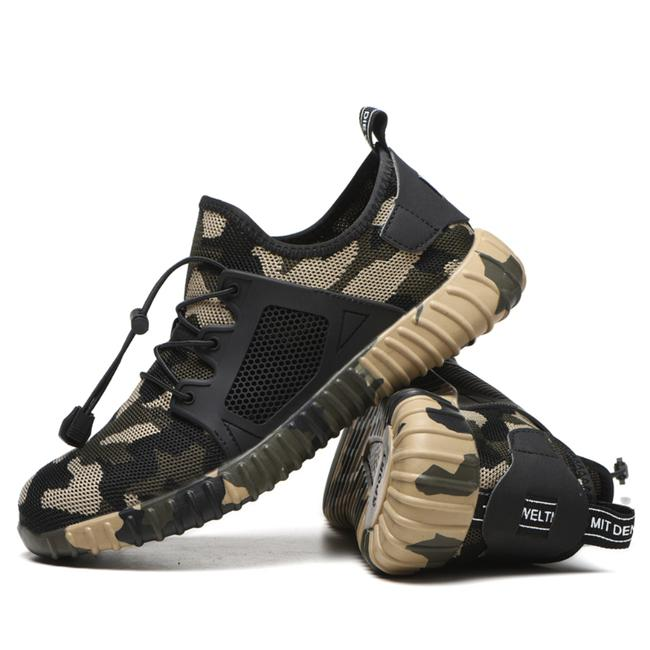 CAMOUFLAGE ALL-IN-ONE BREATHABLE SAFETY WORK SHOES – stable