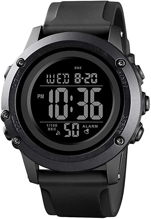 Amazon.com: Men's Digital Sports Watch Large Face Waterproof Wrist .