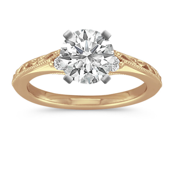 Vintage Diamond Engagement Ring in Yellow Gold | Shane C