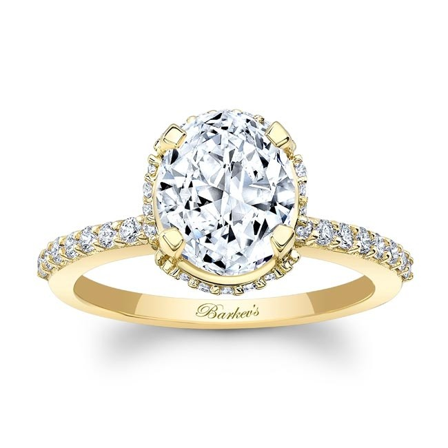 Barkev's Yellow Gold Oval Diamond Engagement Ring 8157LY | Barkev