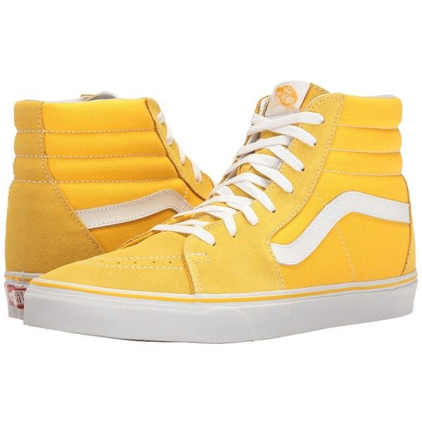 Vans SK8-Hi ((Suede/Canvas) Spectra Yellow/True White) Skate Shoes .