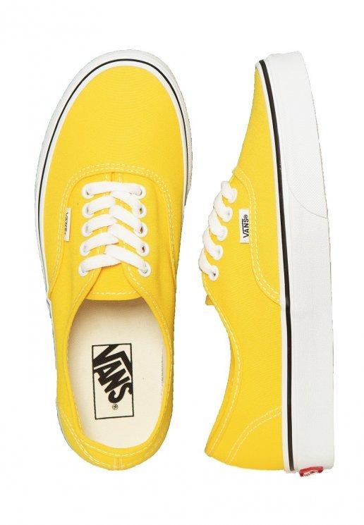 Vans - Authentic Vibrant Yellow/True White - Shoes - Impericon.com .