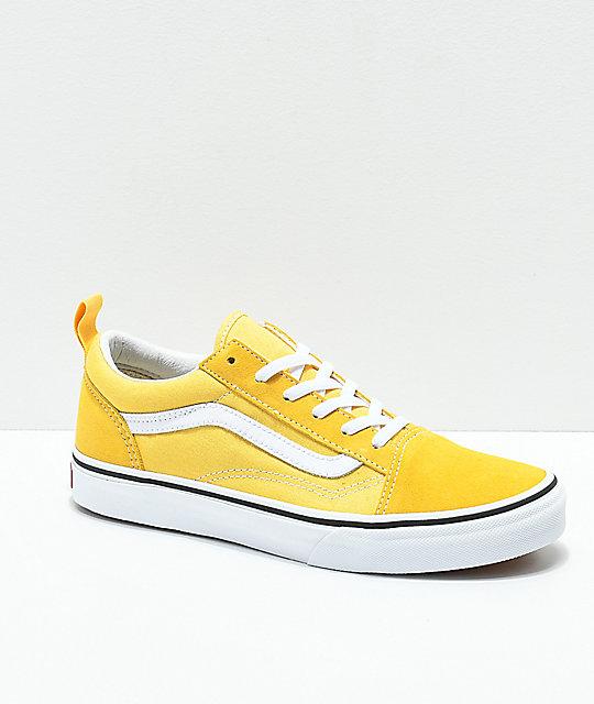 Vans Old Skool Yellow & True White Skate Shoes | Zumi
