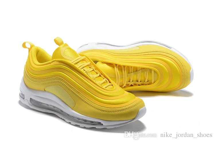 2020 Designer 97 Running Shoes Mustard Yellow Women Outdoor Sports .
