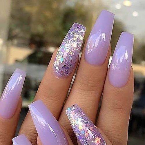 purple acrylic nail ideas | Nail Art Designs 20