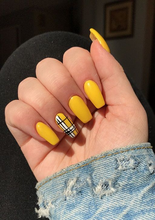 15 Yellow Acrylic Nail Ideas 2018 | Pics Bucket | Acrylic nails .