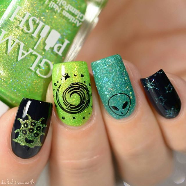 Alien Nail Art Design Ideas – fashiontur.com in 2020 | Alien nails .