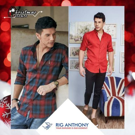 Dress up yourself in these awesome #Christmas colours. | Mens tops .