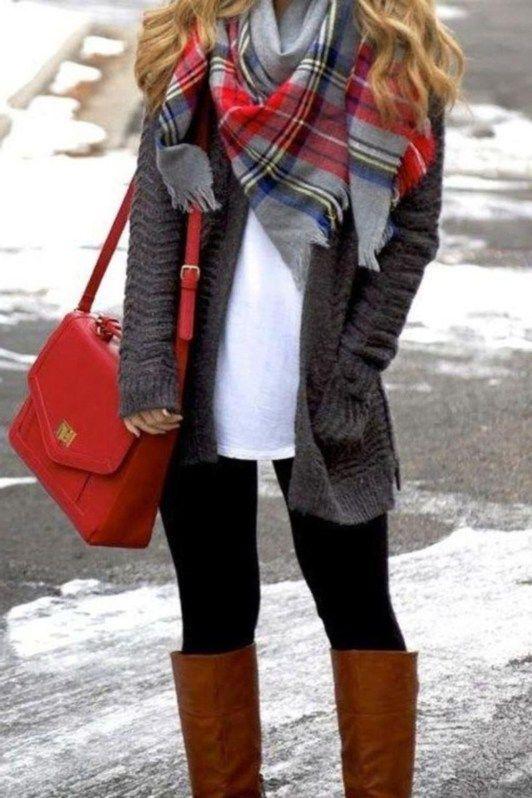 36 Amazing Winter Outfit Ideas For Women - ADDICFASHION   Fashion .