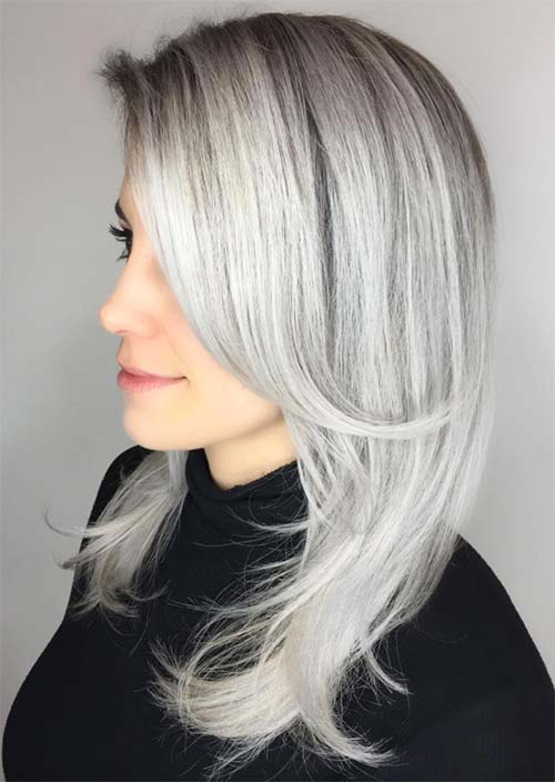 Silver Hair Trend: 51 Cool Grey Hair Colors & Tips for Going Gr