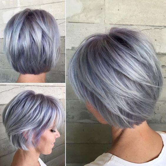Awesome Trending Grey Hair – fashiontur.com in 2020 | Short choppy .