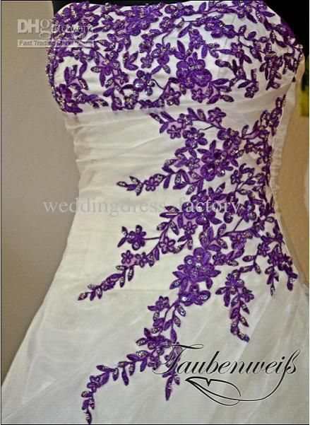 Pin by Danielle Akehurst on Vestidos | Purple wedding dress .