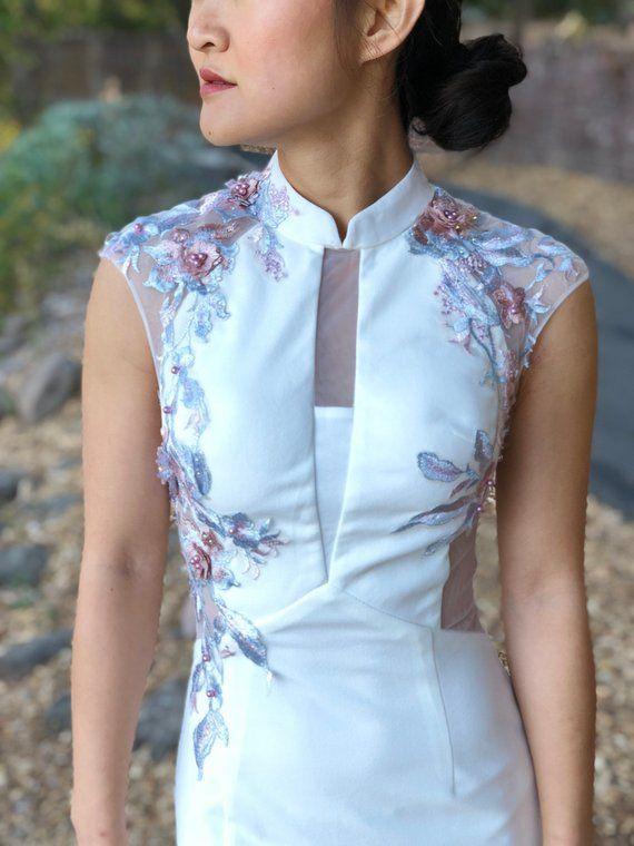 Modern White Cheongsam | Cheongsam Dress | Custom Qipao | Chinese .