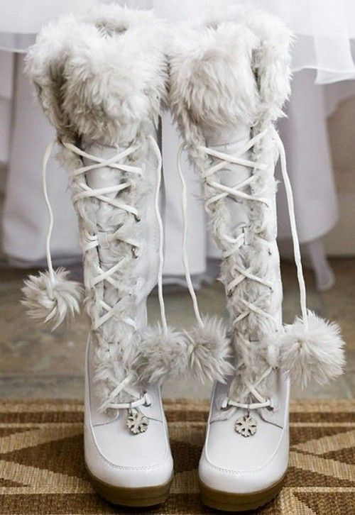 55 Awesome Winter Wedding Shoes And Boots You'll Love | Winter .