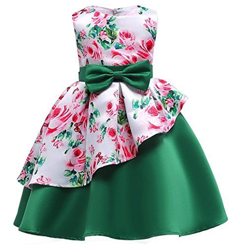 christmas dress girls 5 - Green Beautiful Floral Bridal Wear Gowns .