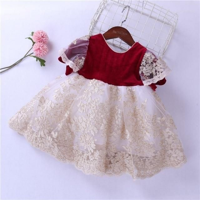 velvet baby girl dress winter christmas red lace toddler girl .