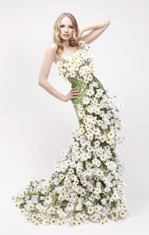 Stunning floral dresses for Yardley London advertising campaign .