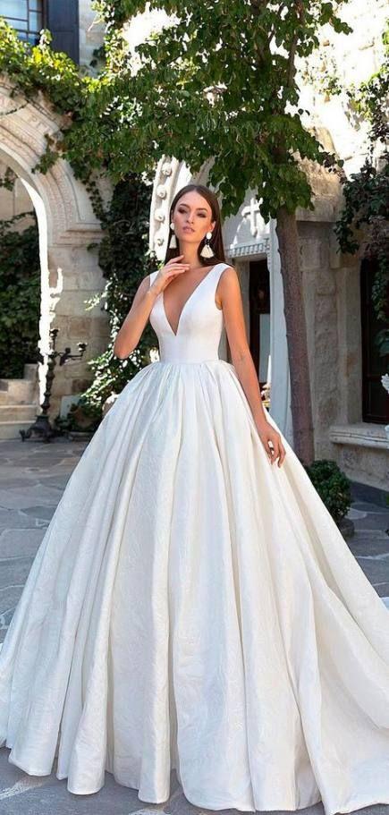 43+ ideas wedding dresses beautiful simple for 2019 | Wedding .