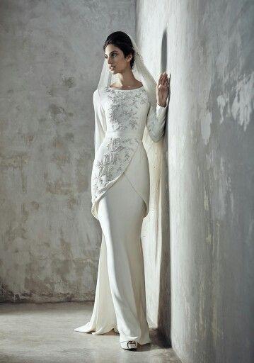 Beautiful, simple and elegant nikah dress for the modern bride .