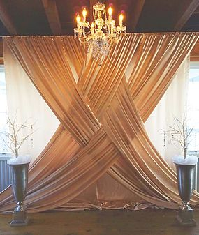 Our beautiful and unique backdrop. | Wedding ceremony backdrop .