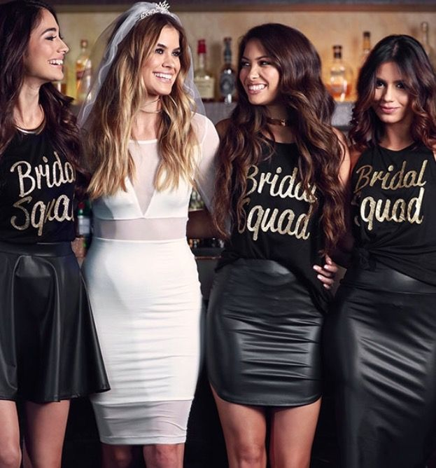 Bride Squad. | Bachelorette party bride, Bachelorette outfits .
