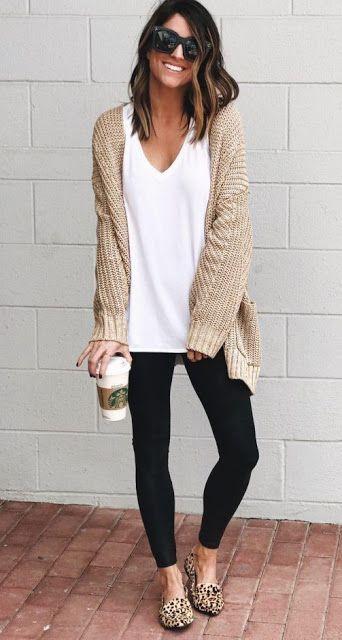 Pin by Jessica Layton on Sweater Weather | Fashion, Black leggings .